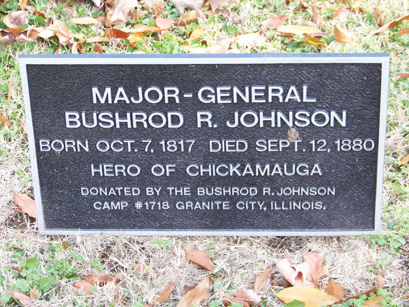 Major-Gen. Bushrod R. Johnson - Tombstone Inscription