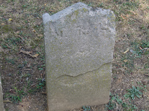 footstone for M. Lucia Sandhouse