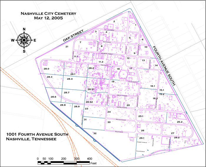 Nashville City Cemetery ociation, Inc. - Section and ID Maps on