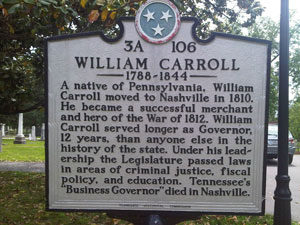 William Carroll State Marker