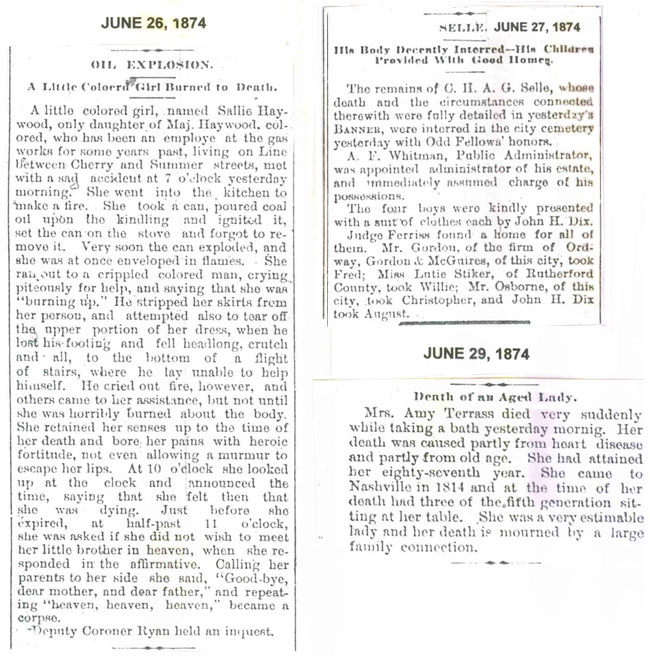 Page 3 Obituaries 1874