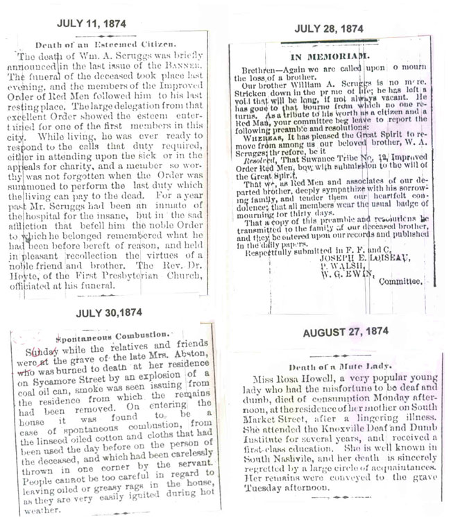 Obituaries for 1874 page 5